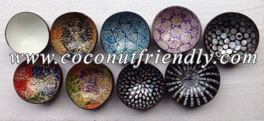 Coconut Bowls Wholesale , Vietnam lacquer coconut shell bowls wholesale