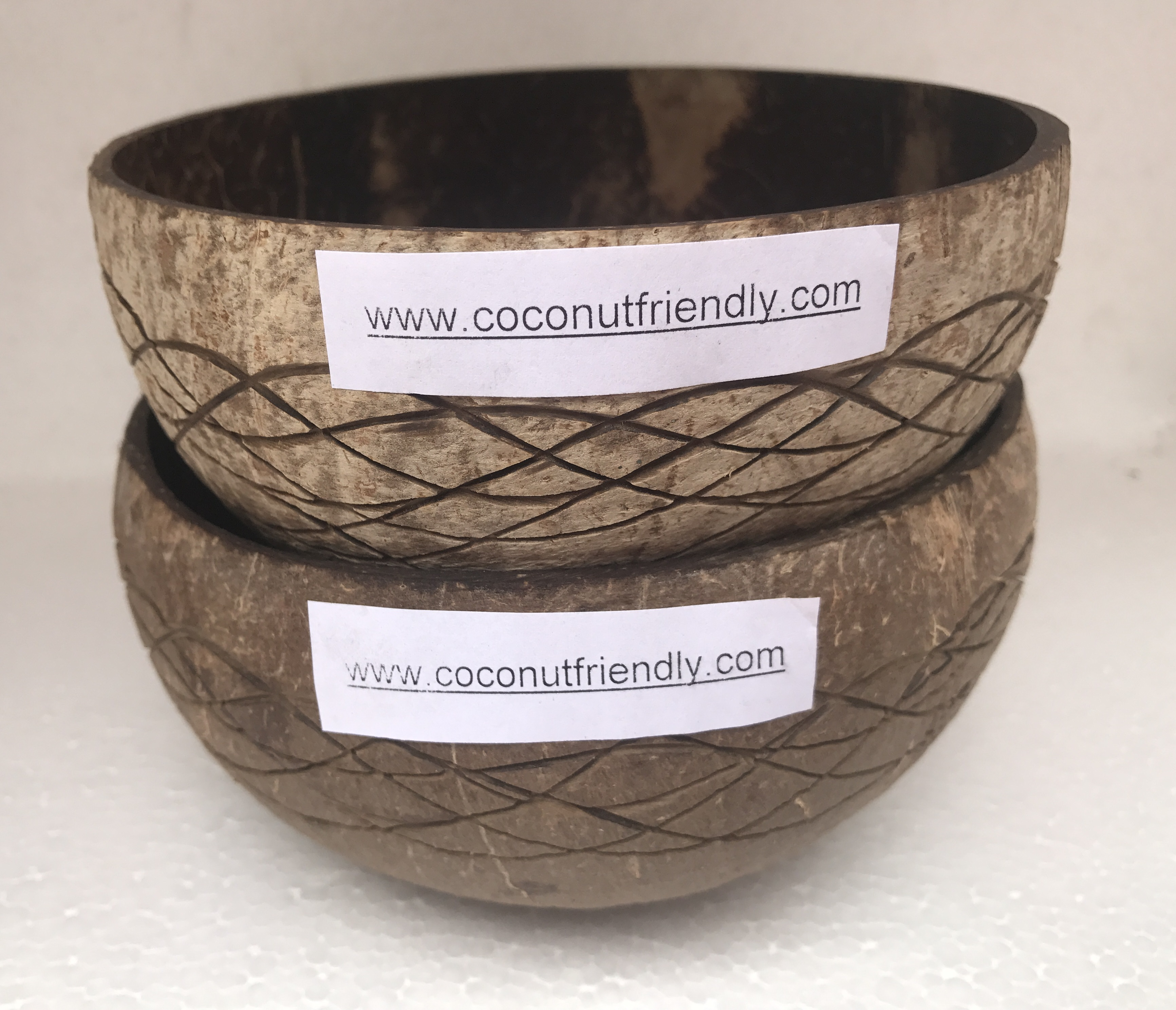 Carved Coconut shell bowls vietnam handmade cheap price