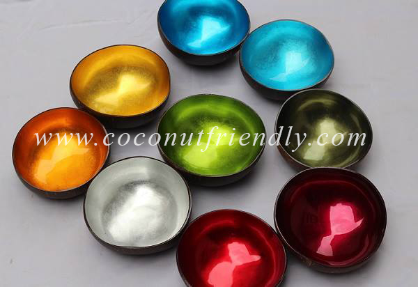 Vietnam Metallic lacquered coconut bowls for Wholesale