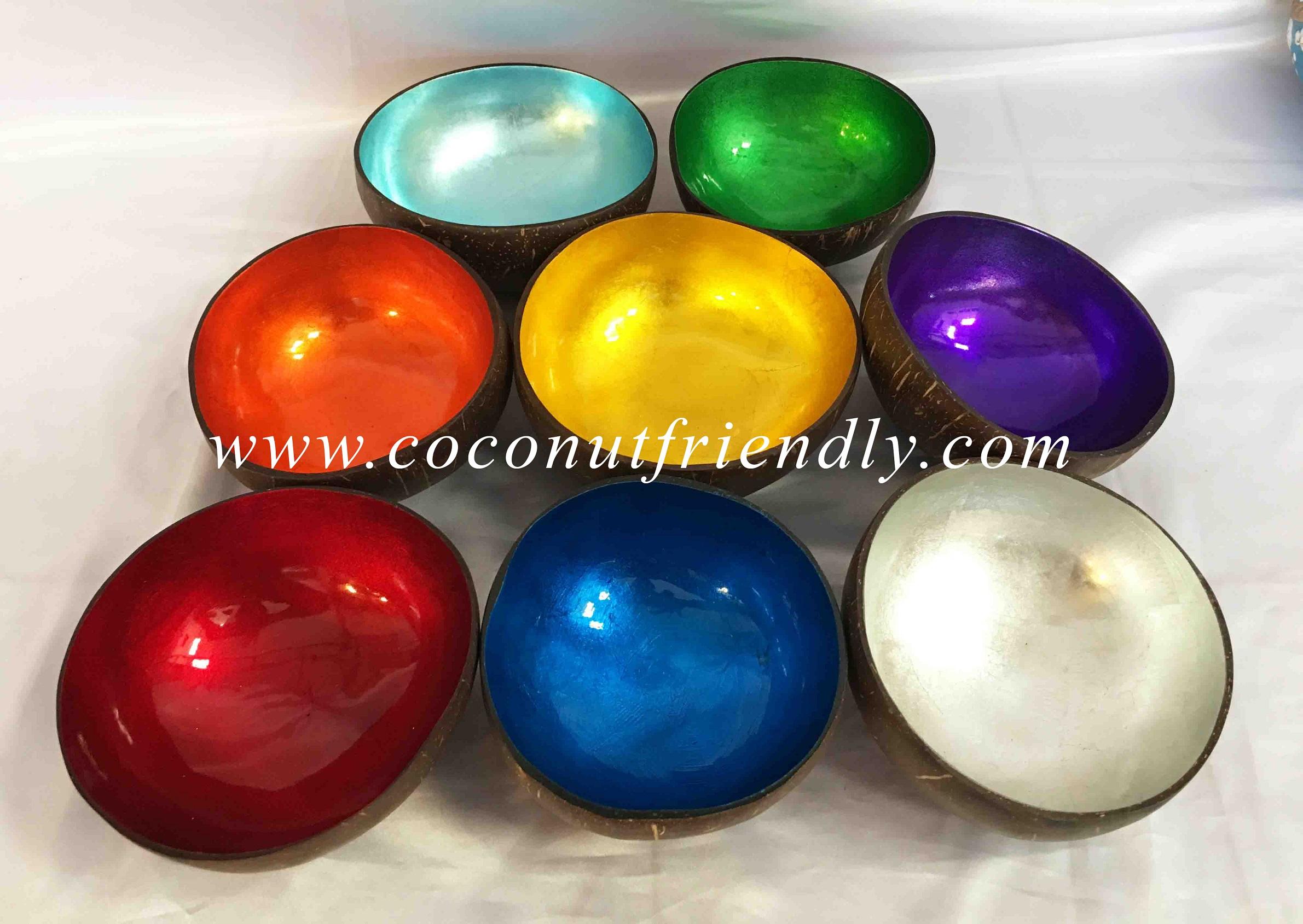 Wholesale Lacquer Coconut Bowl – Gold Metallic Coconut Bowls Vietnam