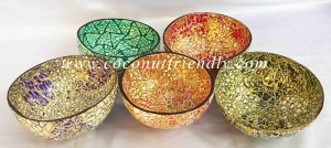 Wholesale Vietnam eggshell inlaid coconut bowl