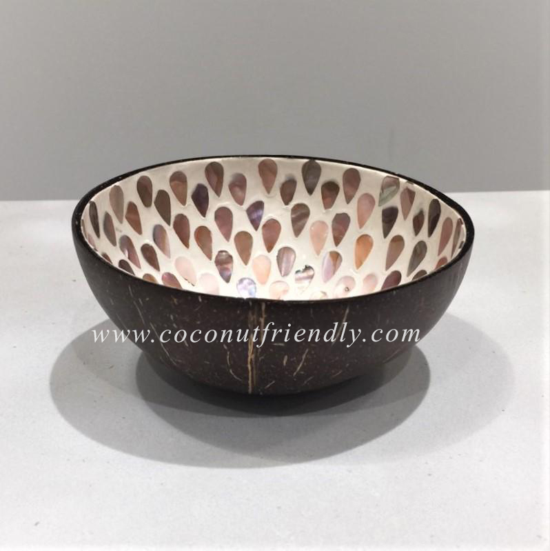 Vietnam Coconut shell bowl with mother of pearl mosaic Wholesale