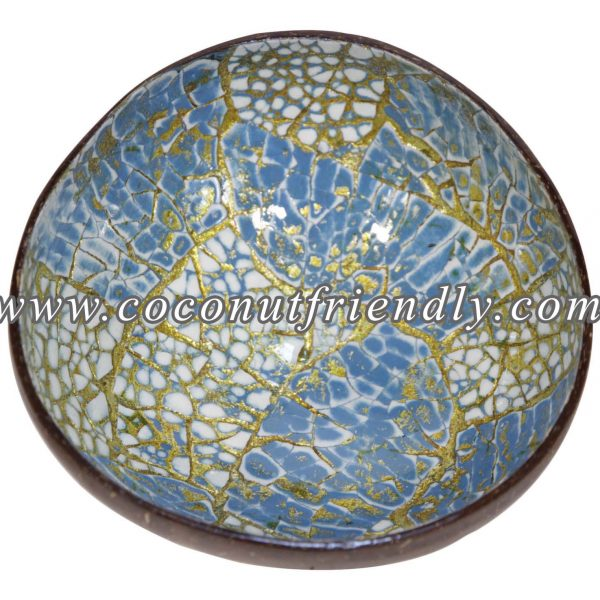 CFCB 1869 - Coconutfriendly.com - Lacquer coconut shell bowl with eggshell inlaid Wholesale
