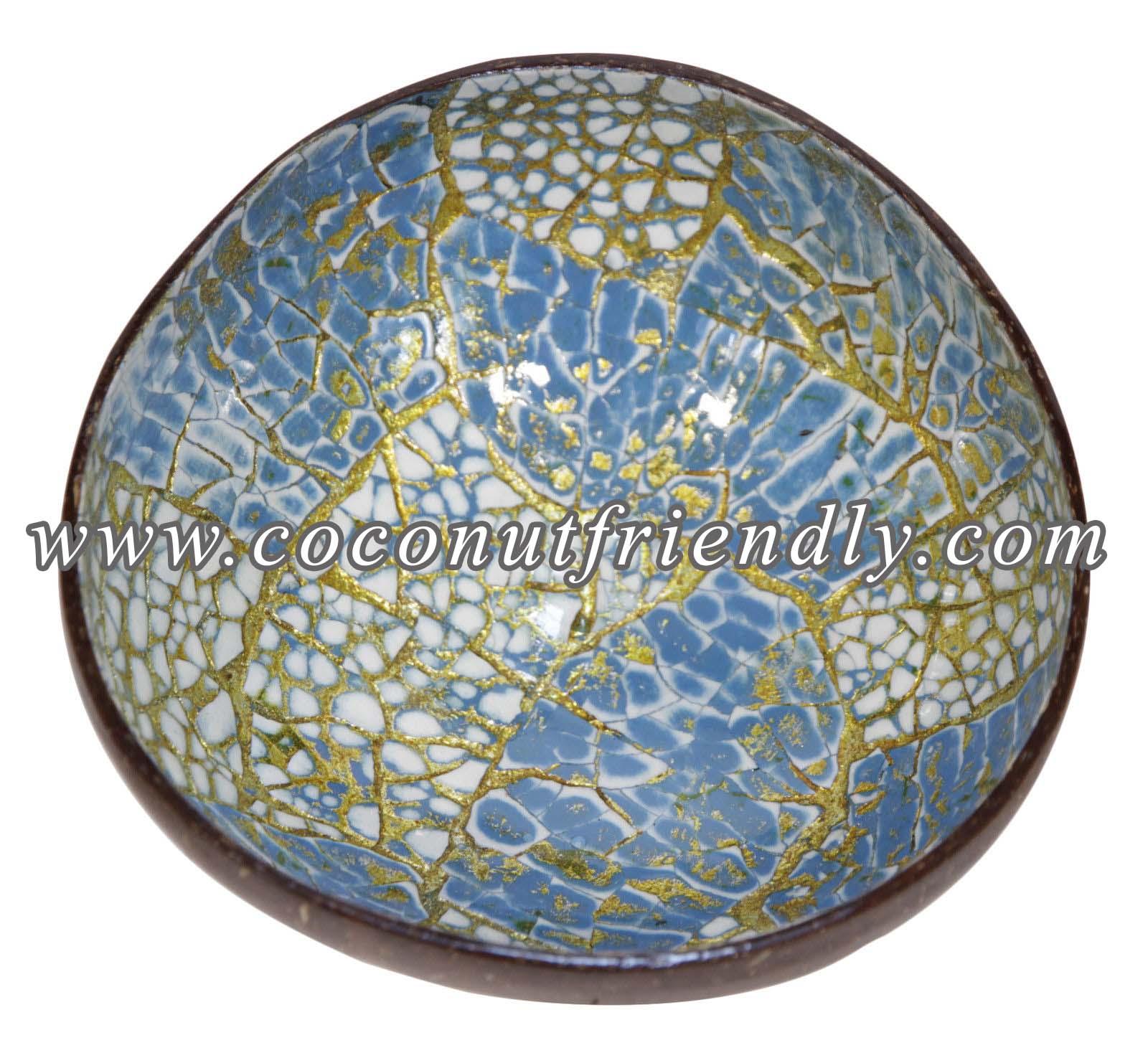 CFCB 1869 – Original Coconut Shell Bowls Wholesale , Lacquer coconut shell bowl with eggshell inlaid Wholesale