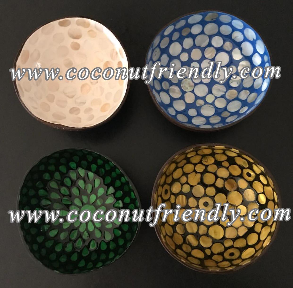 VIETNAM LACQUERED COCONUT BOWLS FOR WHOLESALE
