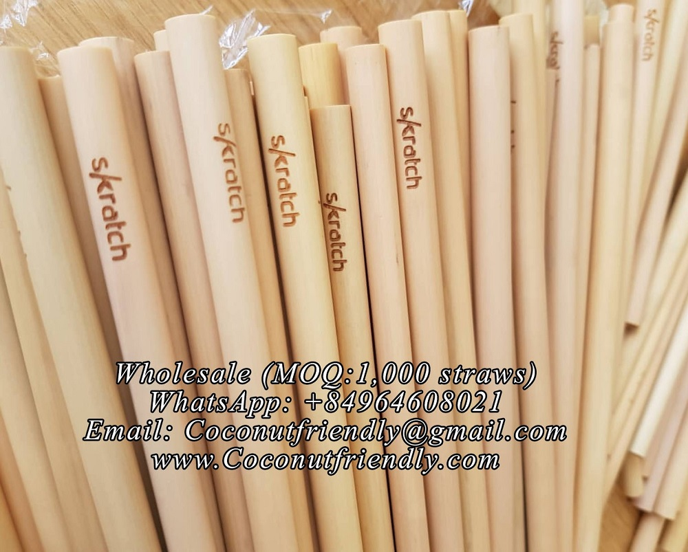 Wholesale Customized logo Bamboo Straw , Bamboo straws Supplier
