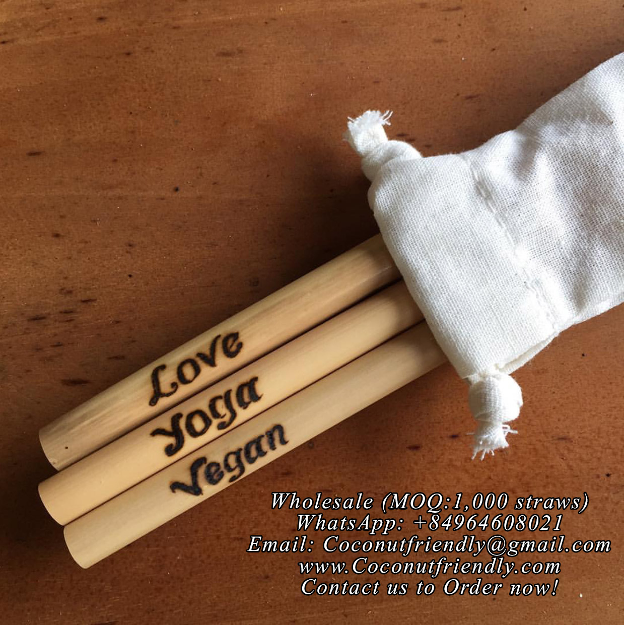 Handmade Wholesale Bamboo with Customized Logo , Supplier Bamboo Straws Worldwide