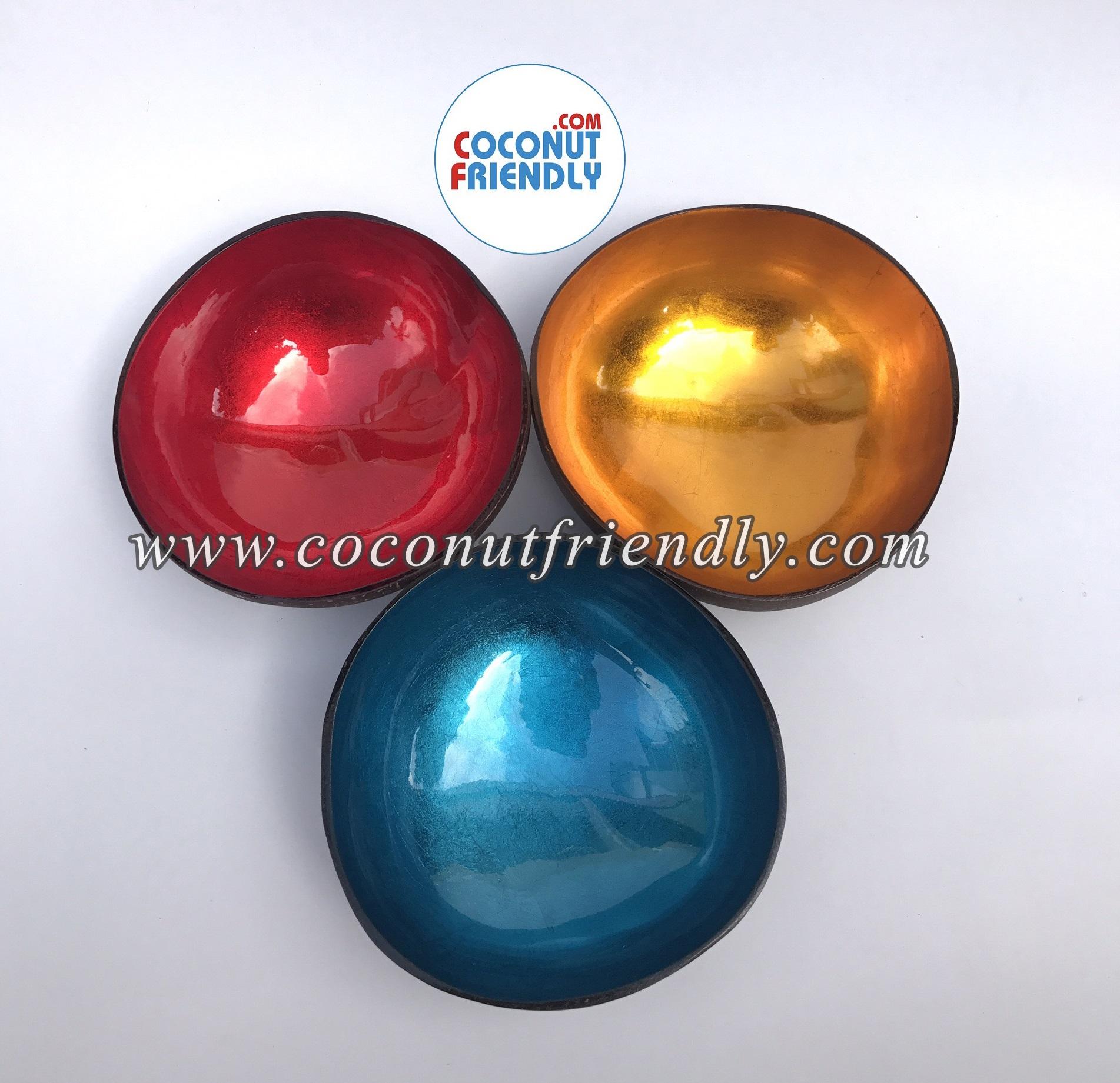 Wholesale Metallic Coconut Bowls , Coconut bowls vietnam wholesale