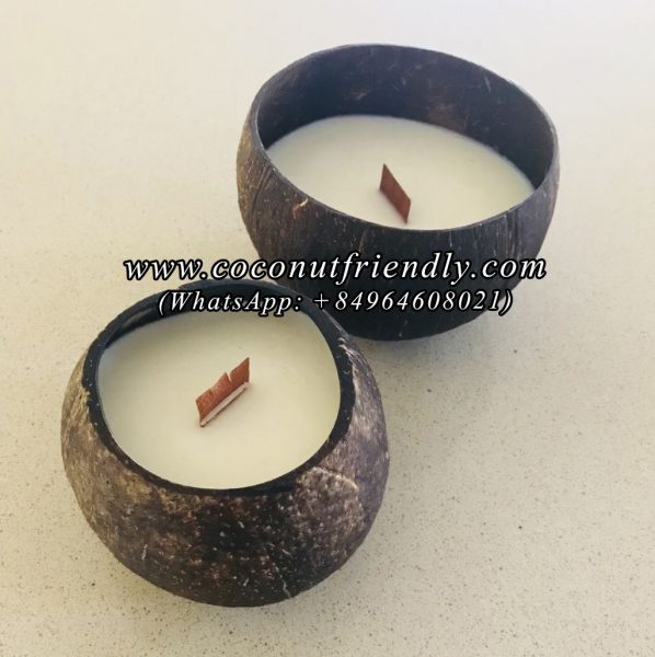 Wholesale Coconut Shell Candle , Coconut Soy Wax Candle