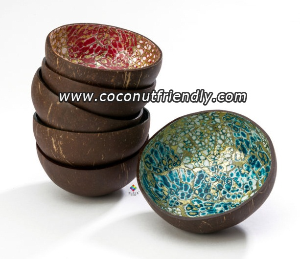 Eggshell lacquer coconut bowl Vietnam supplier
