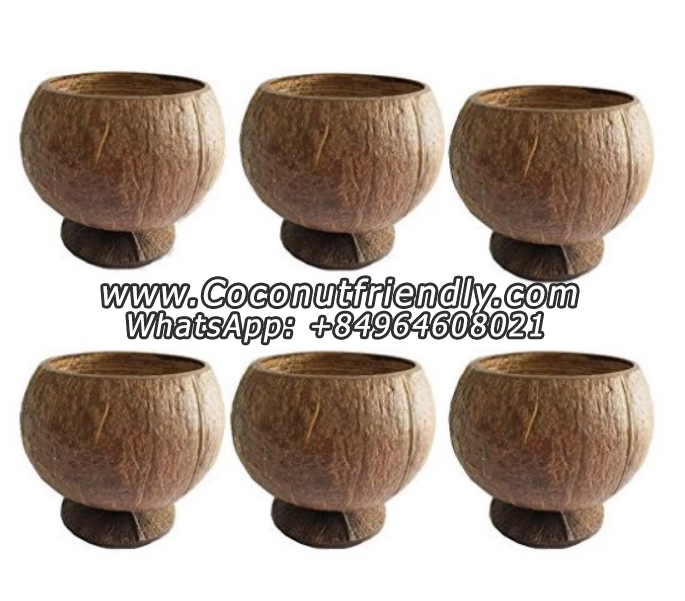 Best Selling Hand Crafted Raw Coconut Shell Bowls , Coconut Cups
