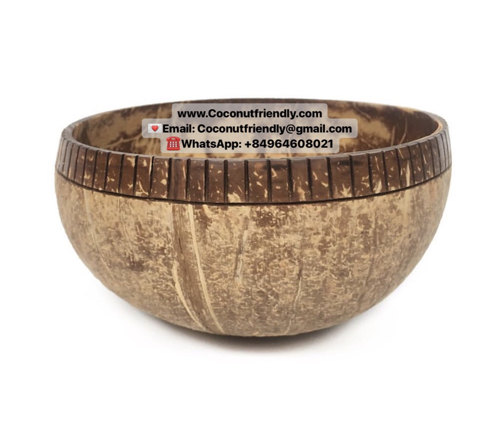 Hand Carved Natural Coconut Bowls Wholesale
