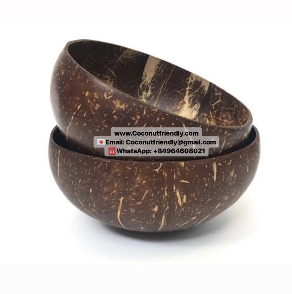 Cheap price Vietnam 100% organic coconut shell bowl finished coconut oil