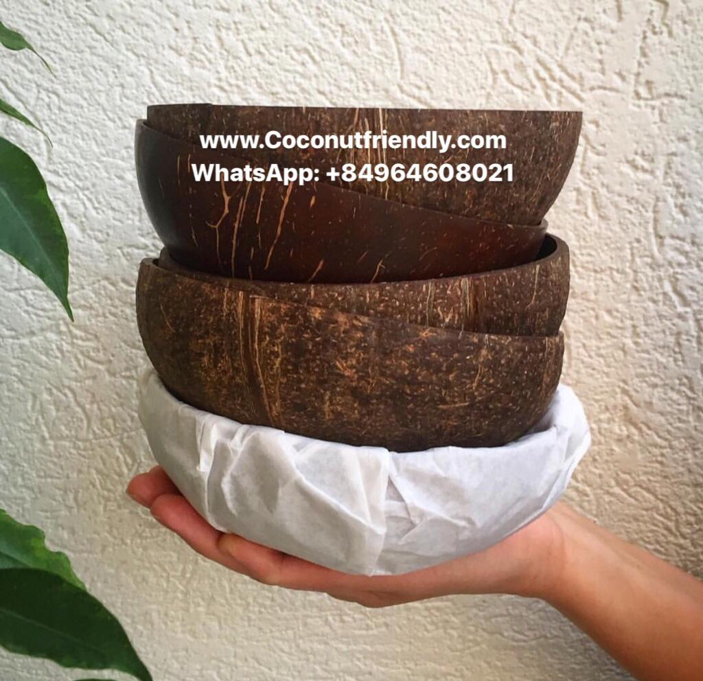 Best selling eco-friendly natural coconut shell bowl from Vietnam