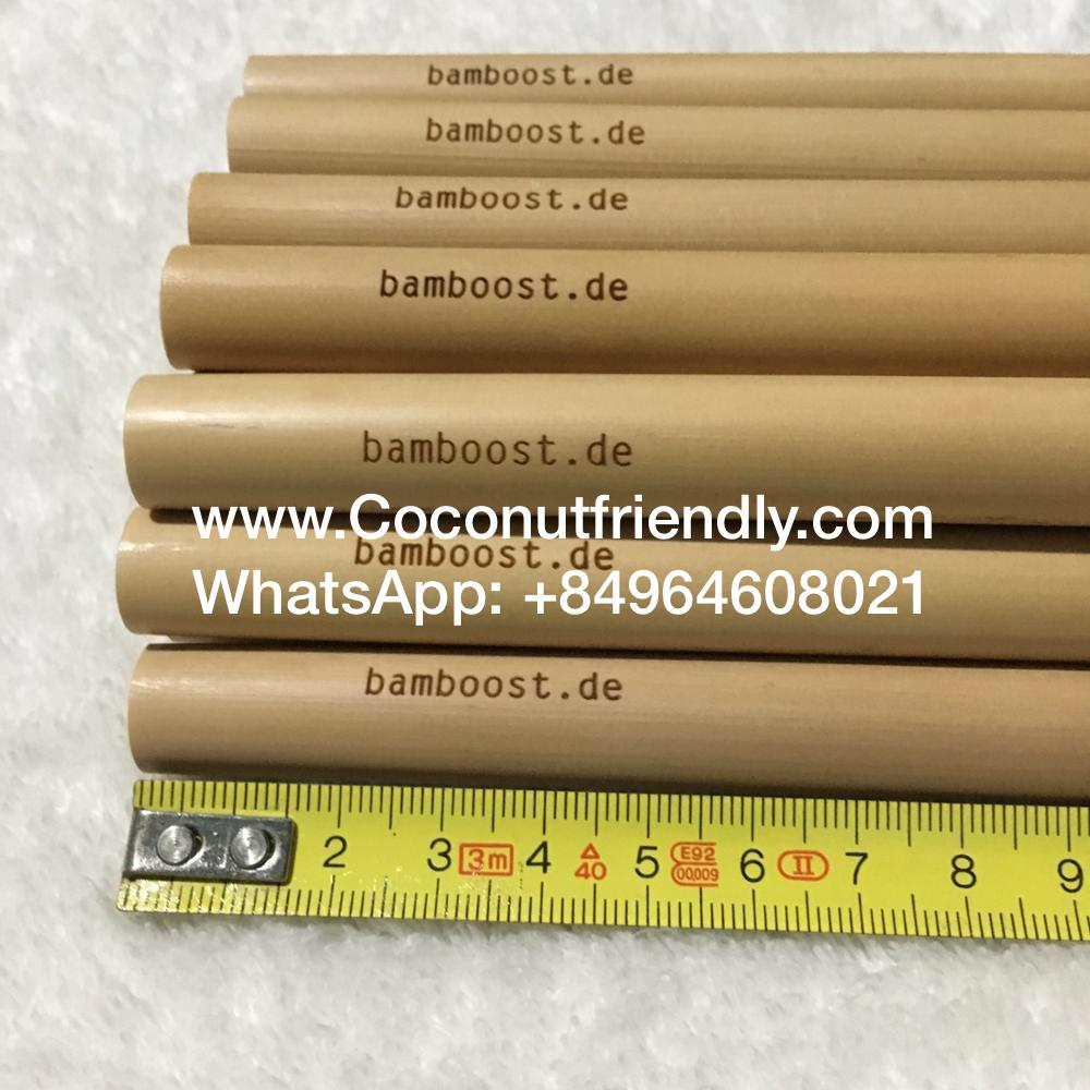 Natural Bamboo Drinking Straw Customized Logo Eco-Friendly Safety Organic Bamboo Straw