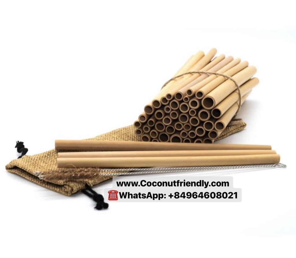 Viet Nam Orginal Natural Color Organic Safety Reusable Bamboo Straw Drinking With Various Size