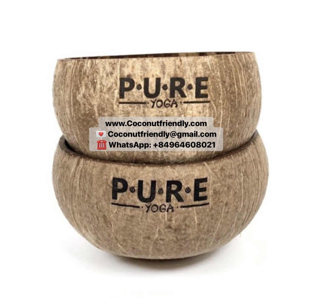 CF 802 Personalized Engraved Jumbo Size Coconut Bowls Handmade Eco Friendly Vietnam