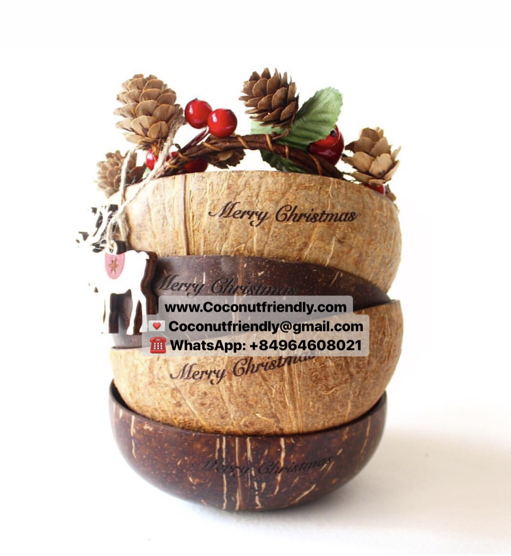 100% Natural Handmade Coconut Shell Bowls for Wholesale