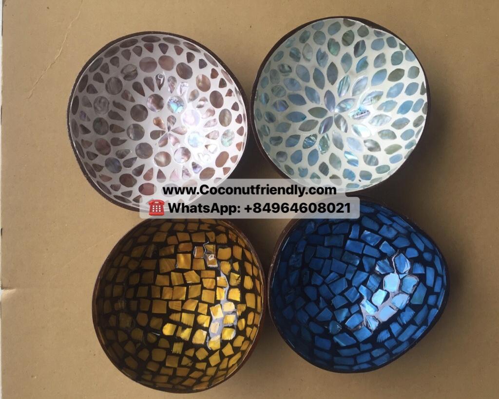 Vietnam handmade coconut lacquer bowl