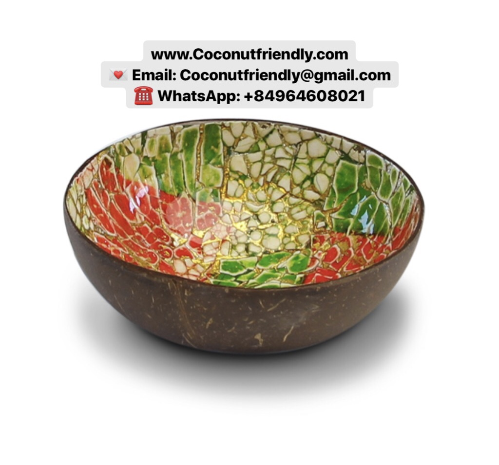 High Quality Best Selling Eggshell Coconut Shell Bowl Food Safe FDA