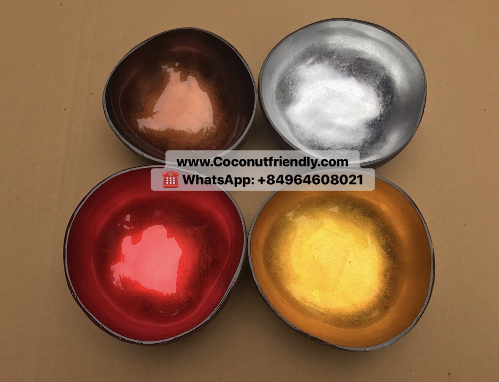 Best Quality Highlights Shiny Color Coconut Shell Bowls from Vietnam