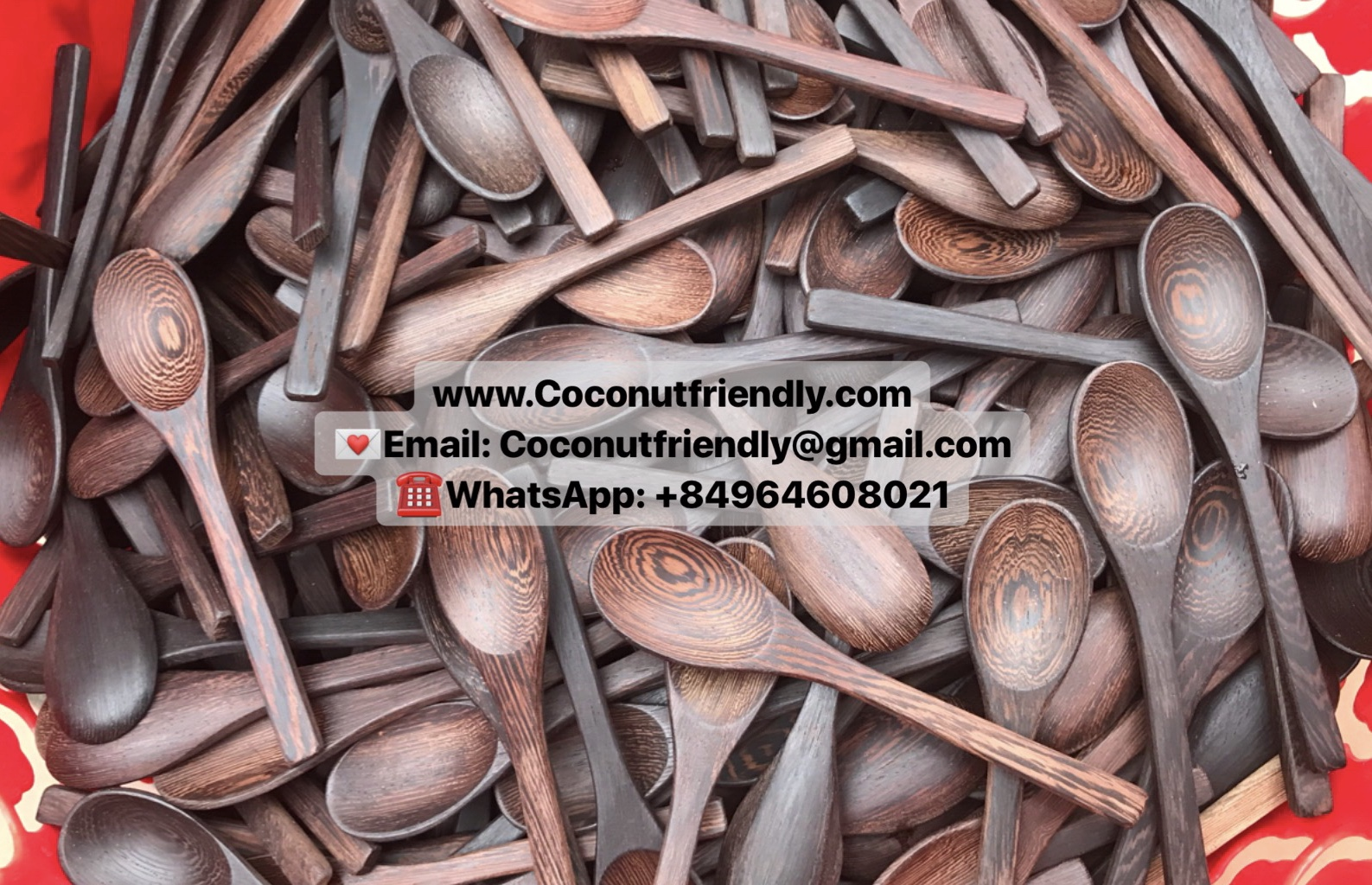 Popular natural Ebony wooden spoon / Wholesale Ebony kitchen utensils handicraft from VietNam