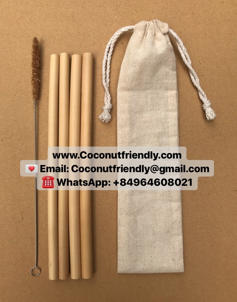 2019 New Fda Reusable Drinking Straw Bamboo With Cleaning Brush