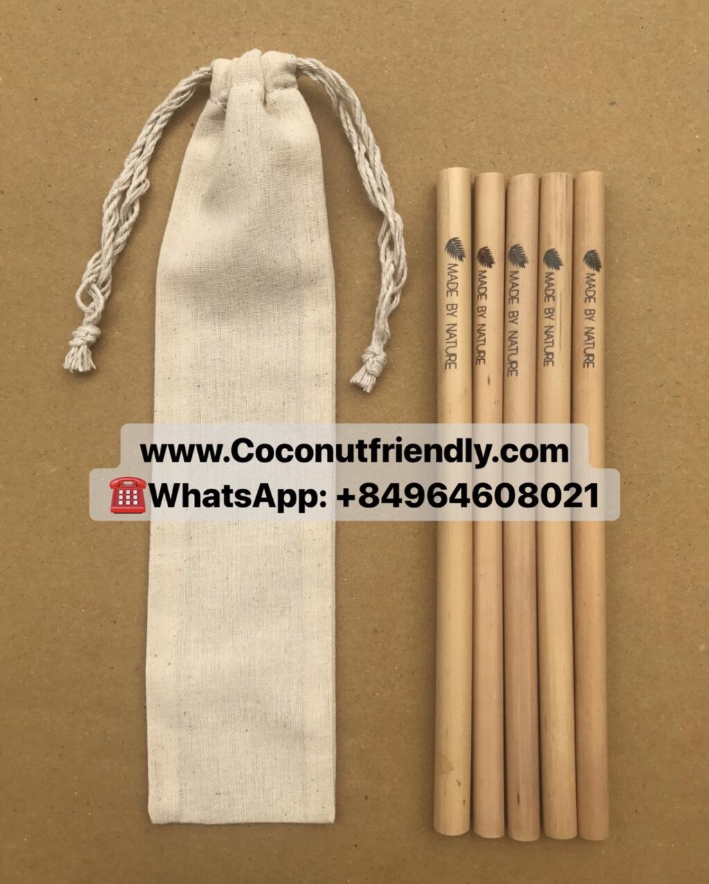 20cm bamboo straws biobased edible straws 100% natural bamboo drinking straws
