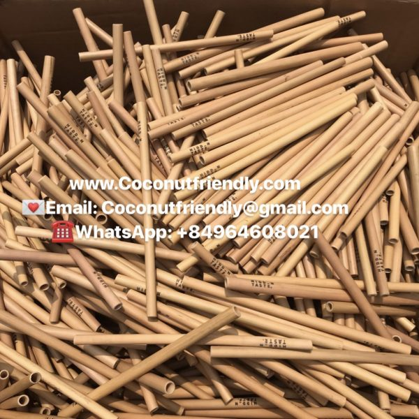 Wholesale Bamboo Reusable Straws 6 Pack sets 20 cm cheap