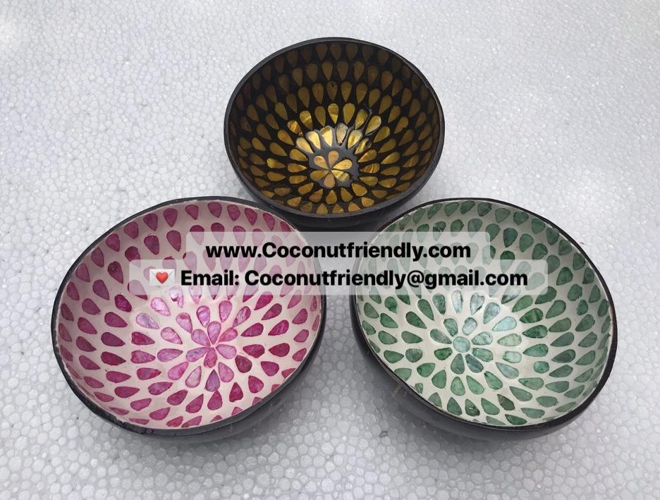 Lacquer coconut bowl