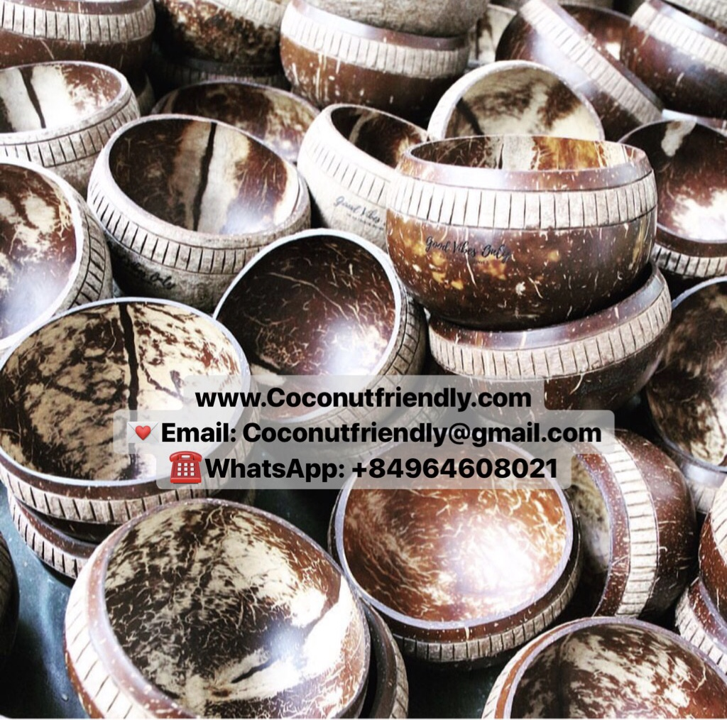 Engraved Natural Hand Carved Coconut Bowls from Coconutfriendly