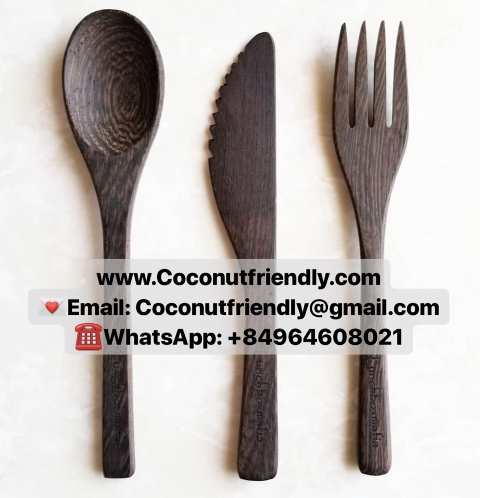 Handicraft Ebony spoon forks kichen utensils vietnam