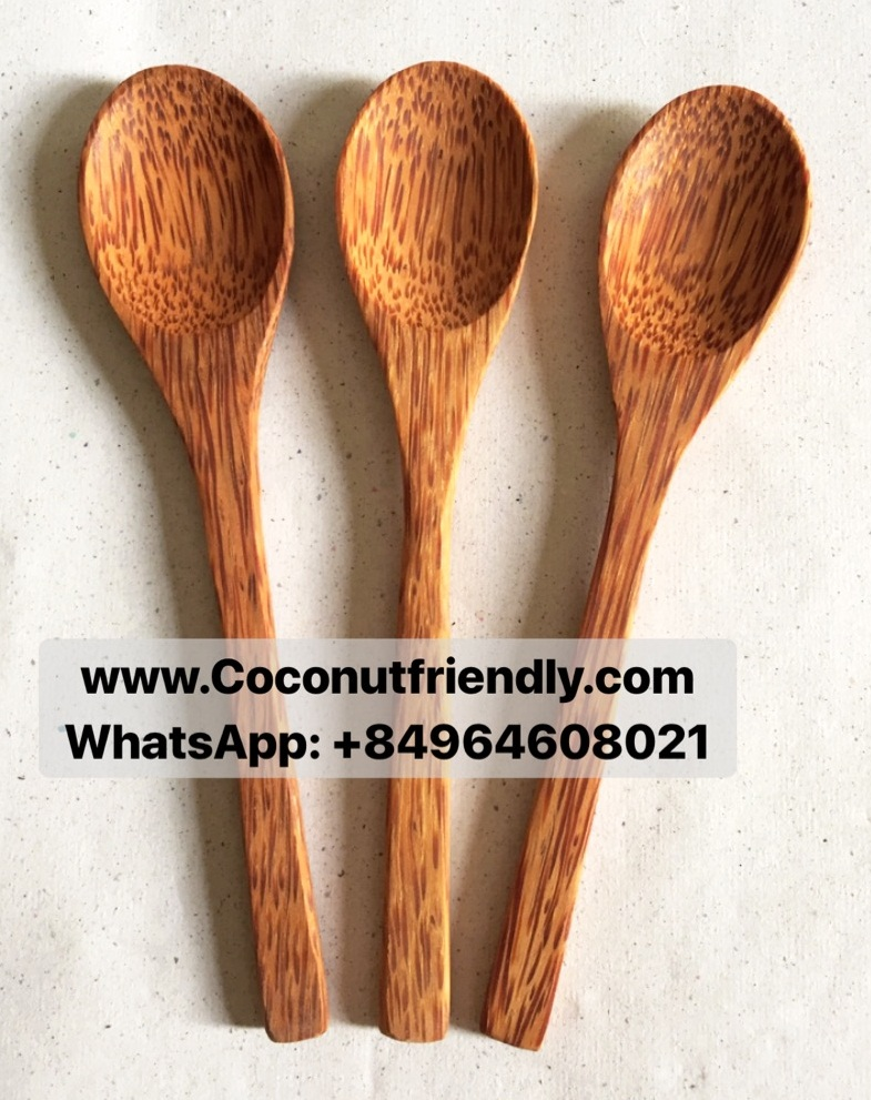 For sale natural coconut wood spoon / High style coconut kitchen utensils