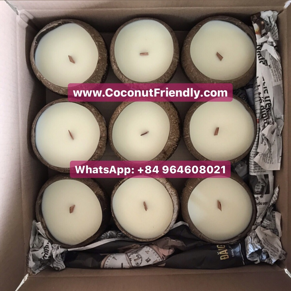 Wholesale Coconut soy wax candles wooden wick for home
