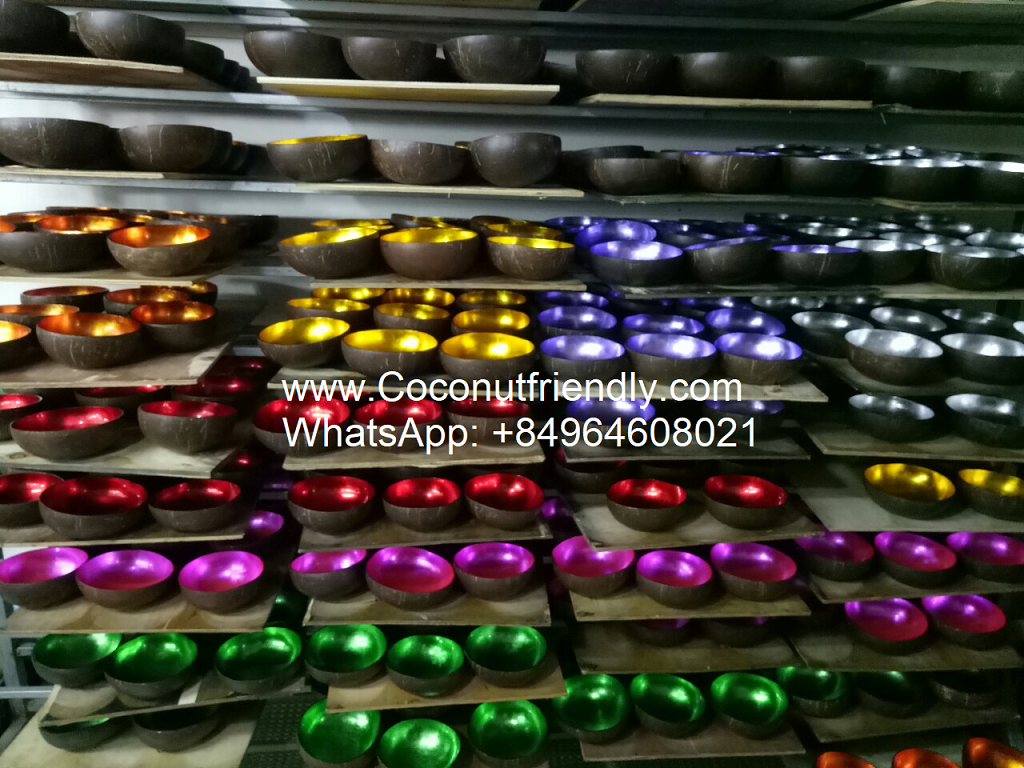Lacquered Coconut shell bowls vietnam manufactuer