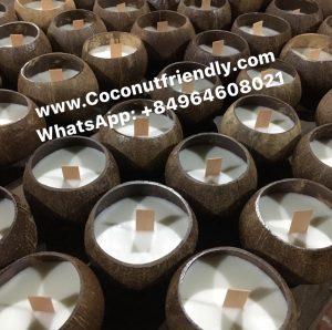 Coconut shell candles wax vietnam