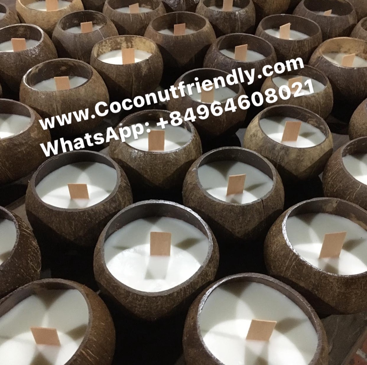 How to make Toasted Coconut Shell Candles Vietnam Manufacturer